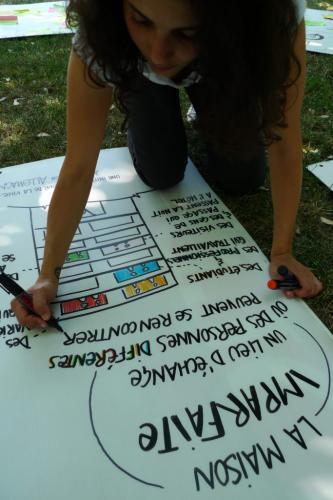 Facilitation graphique de Salma (facilitatrice)