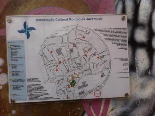 Plan des bâtiments sur le quartier